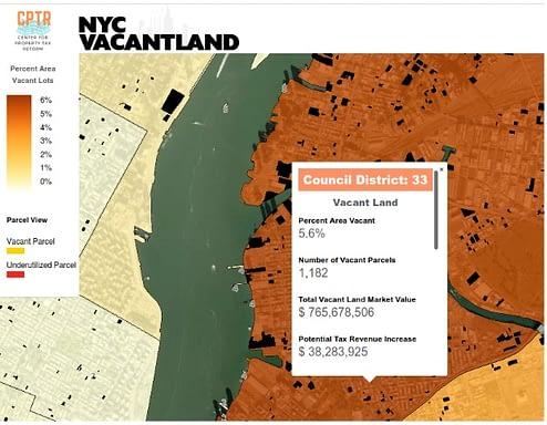 NYC Vacant Land webmap